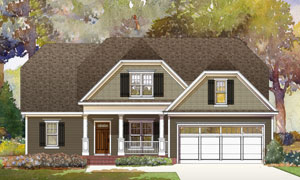 Lot 31 Arboretum, Southern Pines, Plan 2376